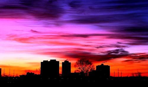 toronto ontario canada sunrise
