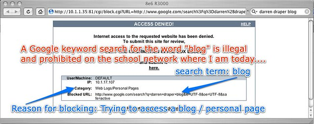 All Blog Google Searches Blocked