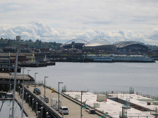 The docks and the stadiums