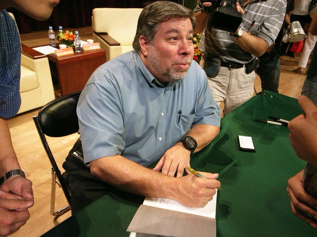 蘋果電腦發明人Steve Wozniak首度來台演講