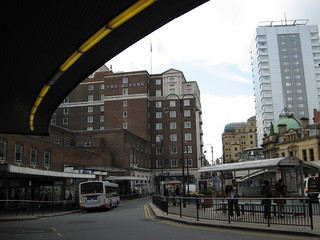 Queen's Hotel from Leeds station main entrance
