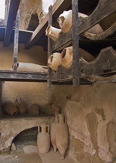 Wine amphorae in original wooden racks (Herculaneum) | by chrisjohnbeckett