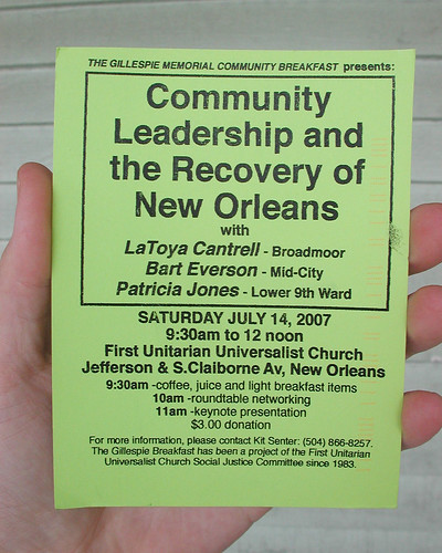 Community Leadership and the Recovery of New Orleans | by Editor B