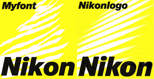 nikon logo   left, helvetica font, right original logo  I'm …   Flickr