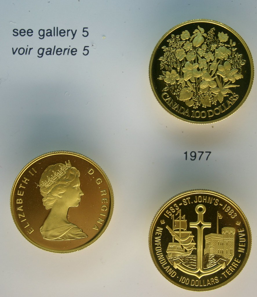 Canadian 100 dollar gold coins (1977 & 1983)   1977 Coin was…   Flickr
