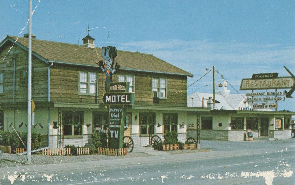 Ponderosa Motel Wausau Wisconsin And 24 Hour Restaurant