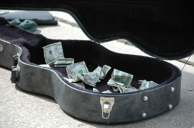 Image result for guitar case with money