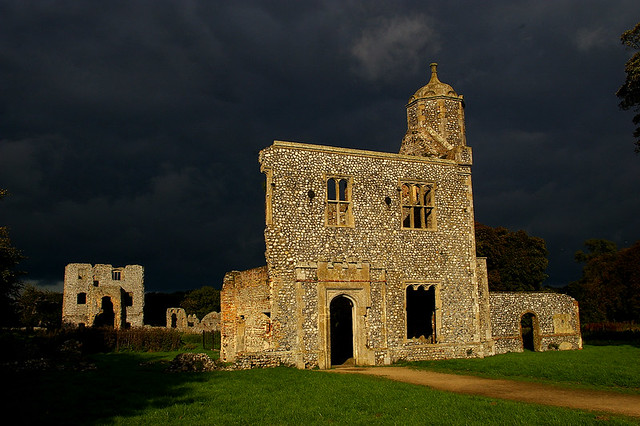 Stormy day at Baconsthorpe Castle, Norfolk
