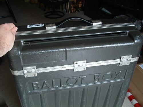 Close up of Deposit slit on Ballot box