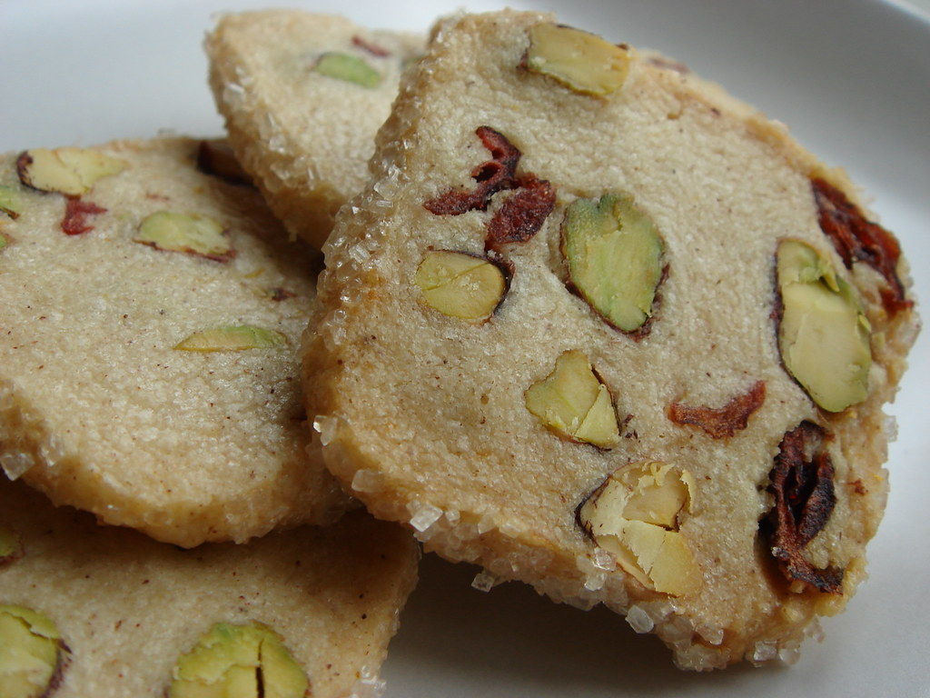 Pistachio Cranberry Icebox Cookies This Is A Recipe Publis Flickr