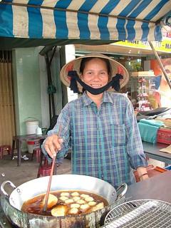 Vietnam . Food Vendor Saigon. (431)   by pjwar