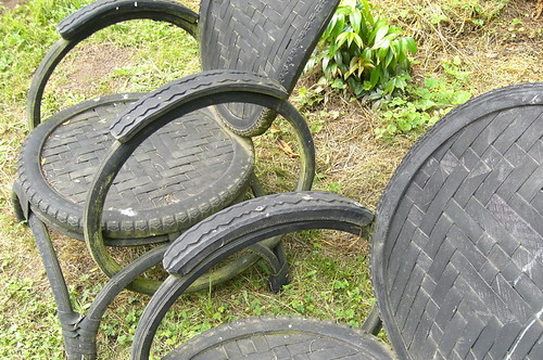 Bike tire chairs | by Christmas w/a K