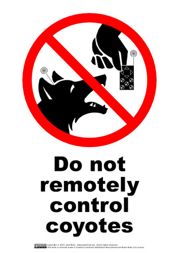 do_not_remotely_control_coyotes | by guppiecat