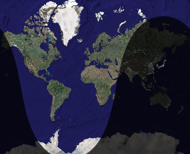 Daylight Map on
