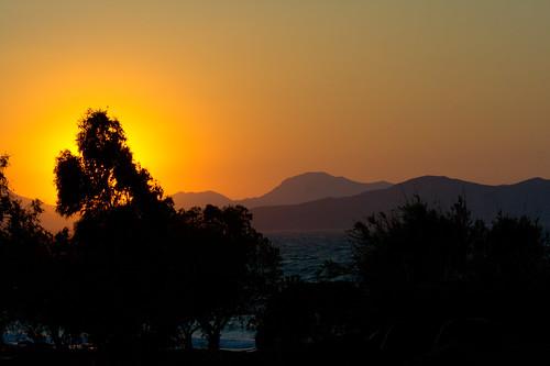sunset sea mountains beach water island kos hills greece coo dodecanese tingaki Κως İstanköy stanchio Ægeansea irinabeach