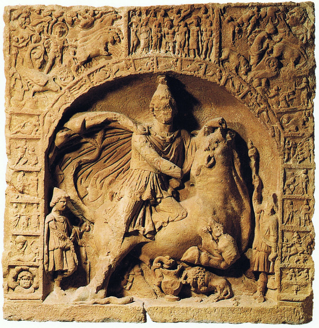 Mithras - Relief with zodiac