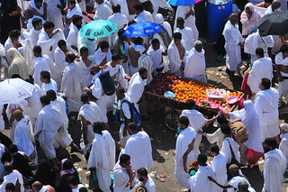 Vendors also join the crowds, to sell food to hungry pilgrims. | by Al Jazeera English