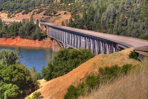 california railroad bridge water river landscape bridges rail railway deck dual span featherriver bridging oroville westbranch truss bridgepixing bridgepix 200706