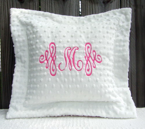Personalized Minky Pillow with Flange