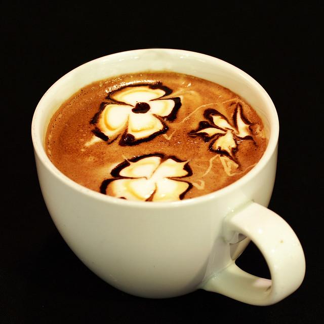 espresso foam art