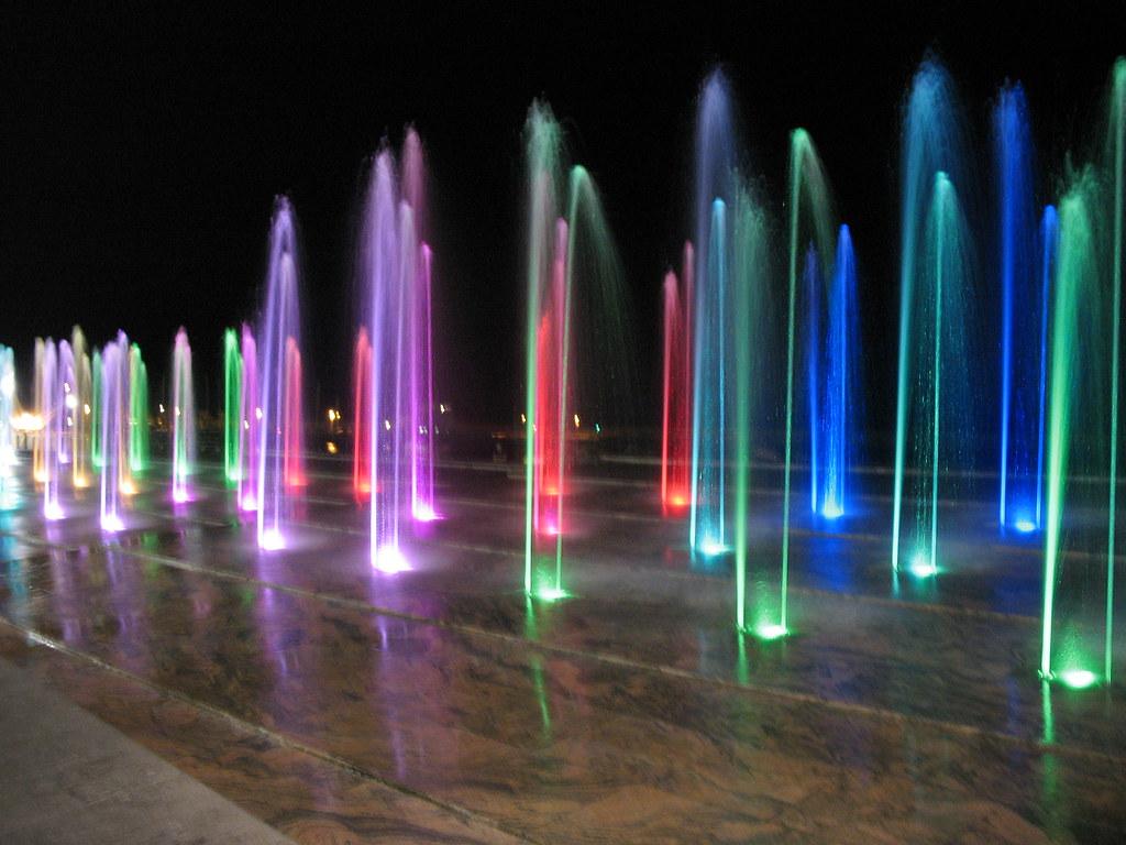 Giochi D Acqua.Giochi D Acqua Coloured Fountain Playing Coloured Founta