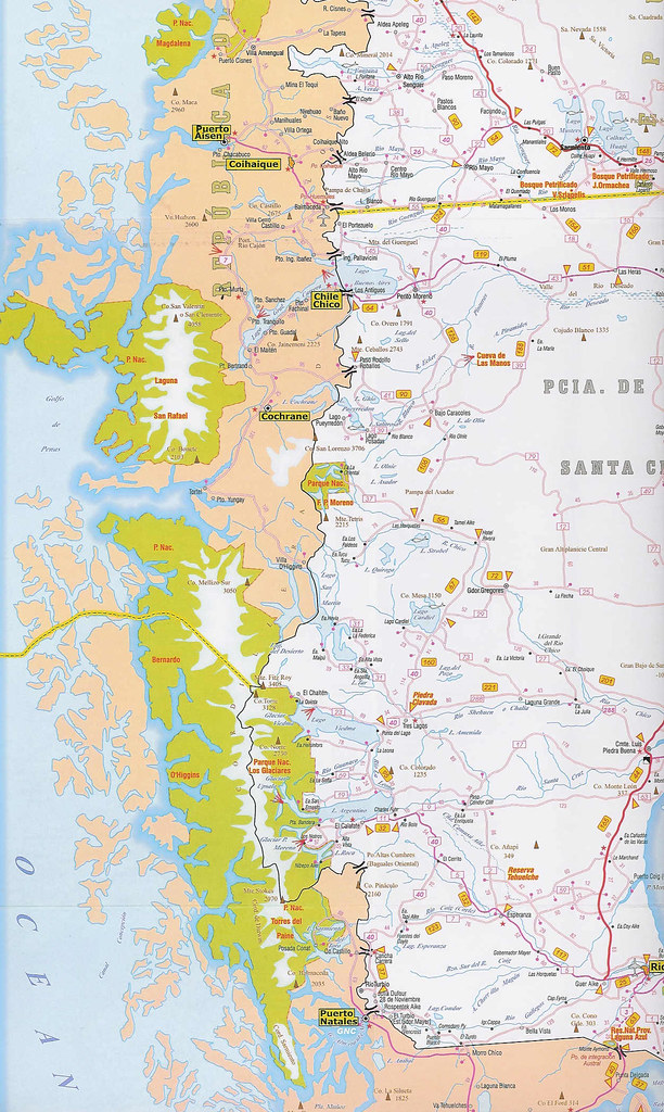 Mapa Rutero De Las Provincias De Santa Cruz Y Chubut Repu Flickr