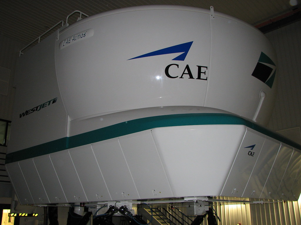 WestJet 737 Simulator | One of the WestJet flight simulators