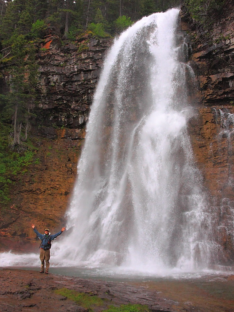 design intemporel 98d04 952cd IMG_2175 Hiker with Virginia Falls, Glacier National Park ...