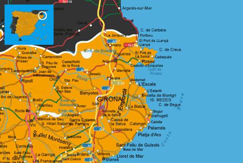 Map Of Coastal Spain.Maps Spain Costa Brava Map Costa Brava Spanish Coast Flickr
