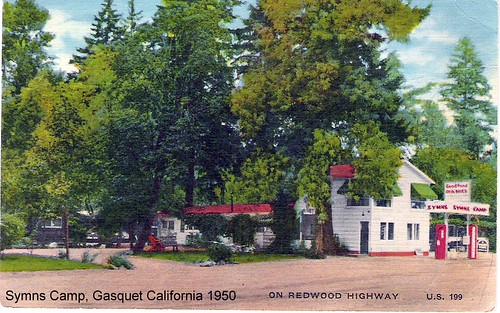 Symns Camp, Gasquet, California 1950's