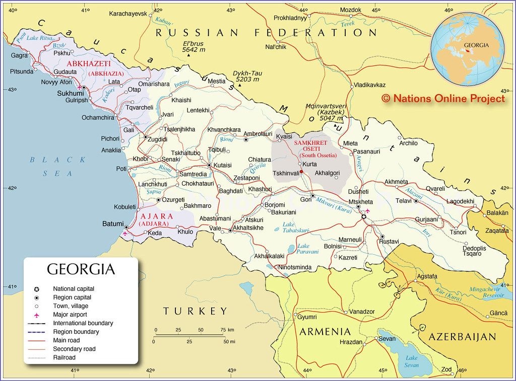 Show A Map Of Georgia.Map Of The Caucasus Republic Of Georgia Political Map Show Flickr