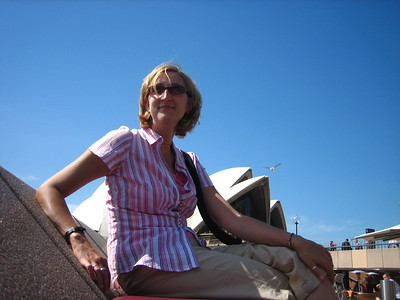Me sitting in the sun outside the Sydney Opera House in 2006