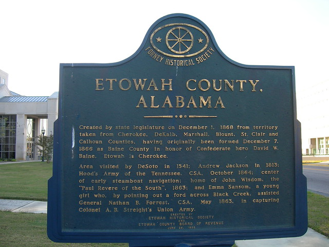 Etowah County Historic Marker