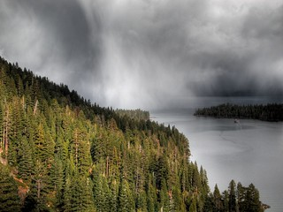 Clouds over Tahoe HDR #4   by Bill Strong