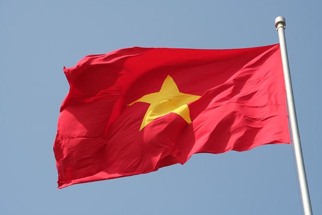 The Vietnamese flag