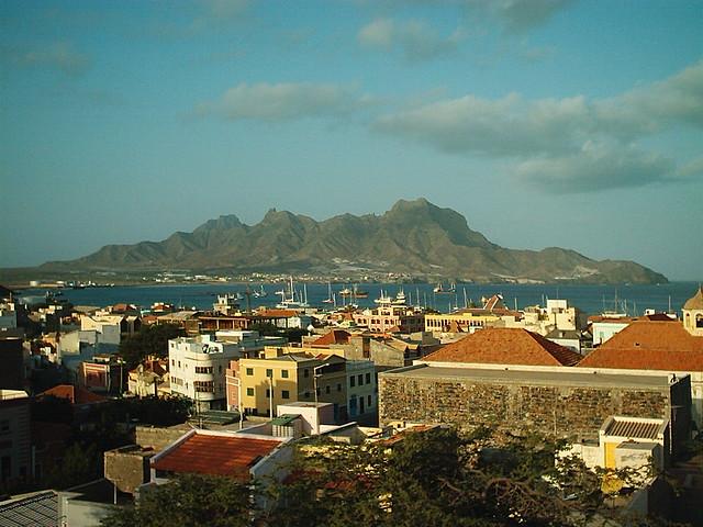 mindelo bay from the hotel balcony