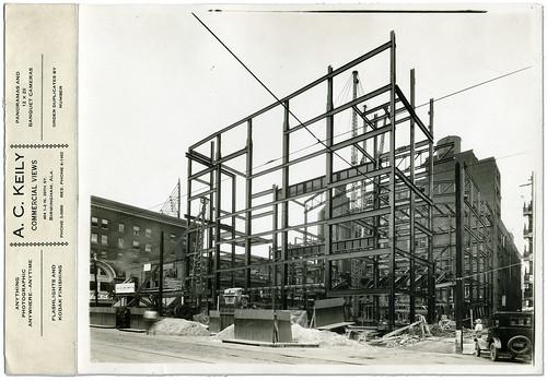 construction birmingham theater theatre steel alabama scan bhamref publix jobsite paramount 1927 moviepalace steelframe alabamatheatre 3rdaven ackeily commercialview
