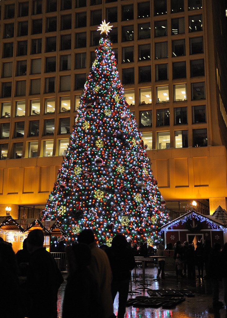 Christmas Tree Downtown Chicago.2008 12 20 Downtown Chicago At Christmas Time 12 Christkin