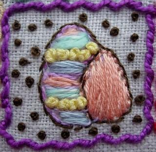 Easter eggs square No8