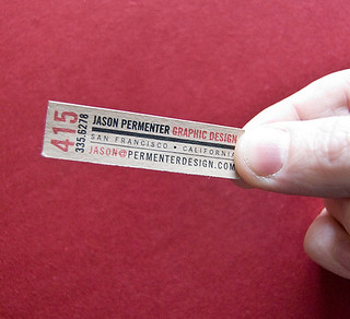 Jason Parmenter's Tiny Business Card | by BusinessCardDesignIdeas