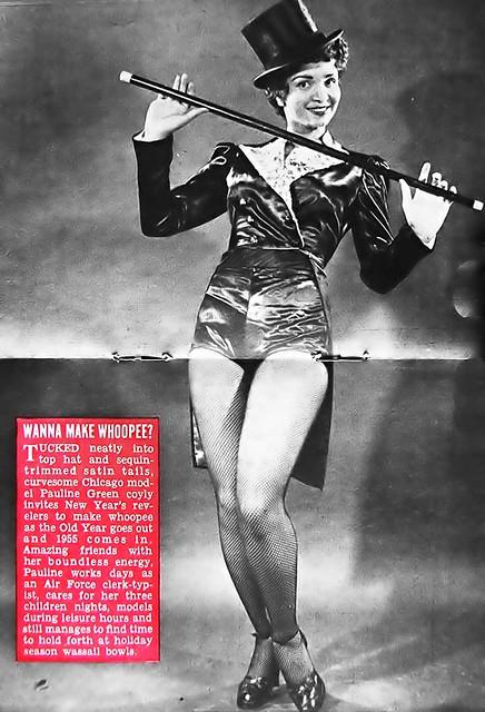 Wanna Make Whoopee With Pauline Green - Hue Magazine, January, 1955