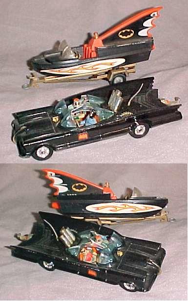 Corgi batmobile & bat boat