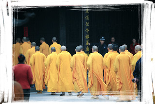 Monks at Monastery of Divine Light | by road triper