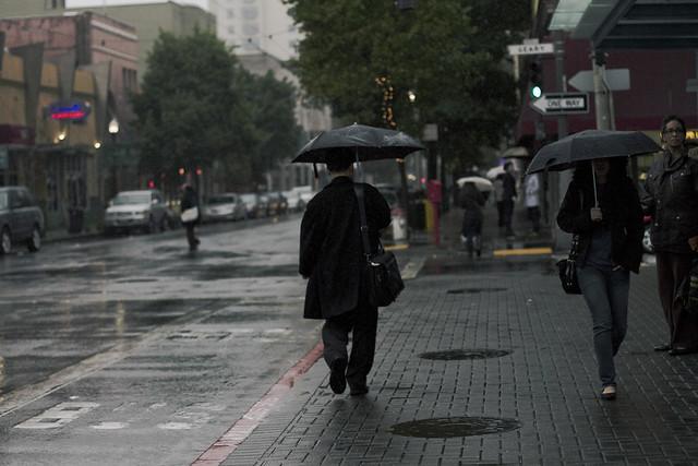 Umbrellas on Geary Blvd, San Francisco (2010)
