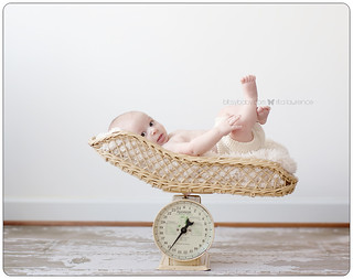 baby in scale annapolis photo studio | by Bitsy Baby Photography [Rita]
