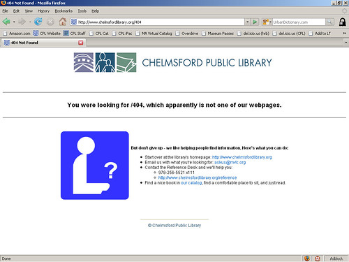 404 Page: Library Icon | by herzogbr