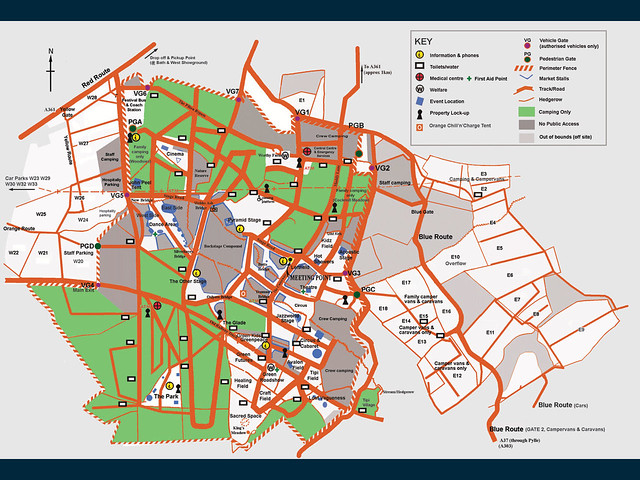 Glastonbury 2007 Site Map | Hopefully this reliable... my RS ...