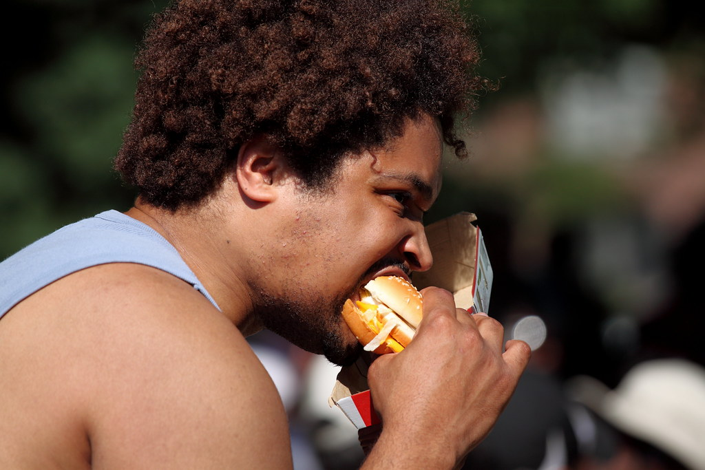 Man Nomming On Burger I Believe This Meridian Hill
