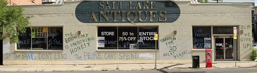 antiques store graffiti   by Kessop