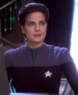 Terry Farrell  Nicole portrayed Ezri Dax, Science Officer